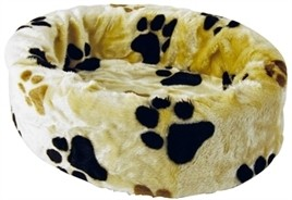 Hondenmand bontmand beige poot 46 cm-0