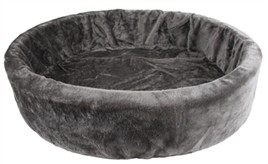 Hondenmand bontmand grijs 85 cm-0