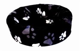 Hondenmand bontmand zwart met poot 66 cm-0