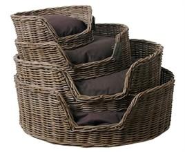 Rieten Hondenmand Basket 80CM-5557