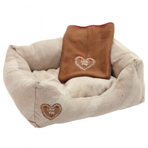 Hondenmand love you inclusief fleece deken-7121