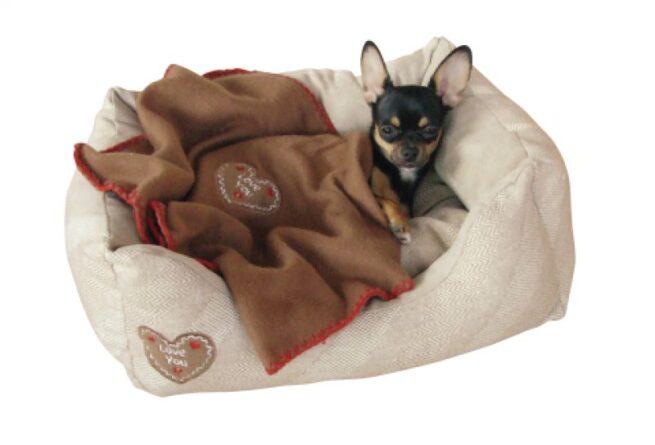 Hondenmand love you inclusief fleece deken-0