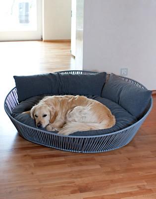 Hondenmand Siro Twist Oval Donker Grijs-0