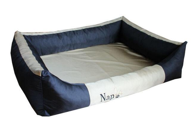 Hondenmand Napzzz Oxford Duo Zwart Beige 100cm-0