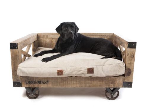 Hondenbank Vintage met kussen -0