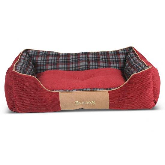 Hondenmand Scruffs Highland Box Bed Rood-13801
