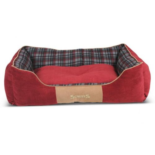 Hondenmand Scruffs Highland Box Bed Rood S-0