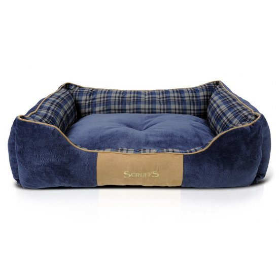 Hondenmand Scruffs Highland Box Bed Blauw M-0