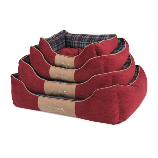 Hondenmand Scruffs Highland Box Bed Rood-0