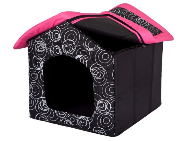 Hondenhuis Design Roze-13817