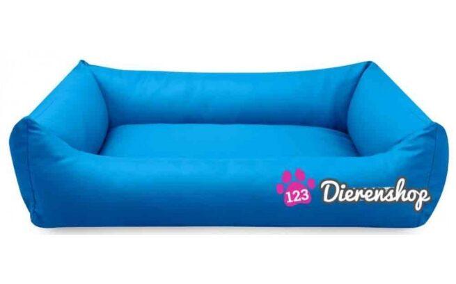 Hondenmand Blauw Kunstleer 80cm-0
