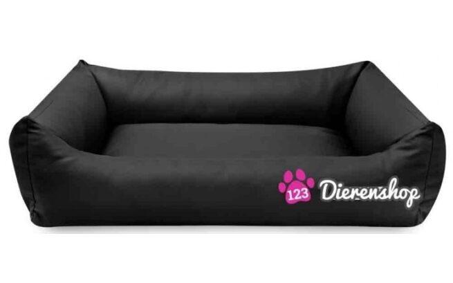Hondenmand Zwart Kunstleer 80cm-0