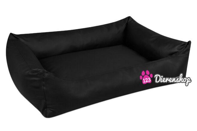 Hondenmand Zwart Kunstleer-0