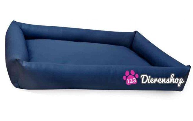 Hondenmand Puk Kunstleer Marineblauw 120cm-0