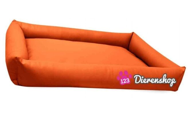 Hondenmand Puk Kunstleer Oranje 120cm-0
