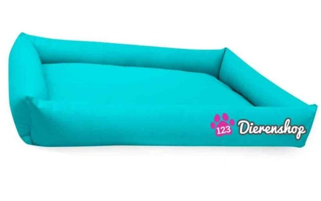 Hondenmand Puk Kunstleer Turquoise 100cm-0