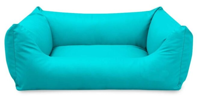 Hondenmand King Deluxe Turquoise-0