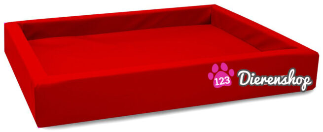 Hondenmand Lounge Bed Rood-14484