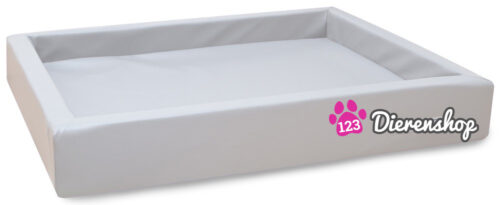 Hondenmand Lounge Bed Wit 80 cm-0