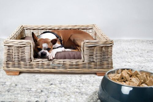 Rotan hondenmand 90 cm inclusief kussen-0