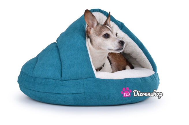 Hondenmand Snuggle Cave Turquoise Deluxe 95 cm-0