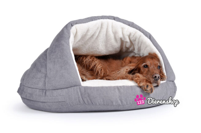 Hondenmand Snuggle Cave Zilver Deluxe 65 cm-0
