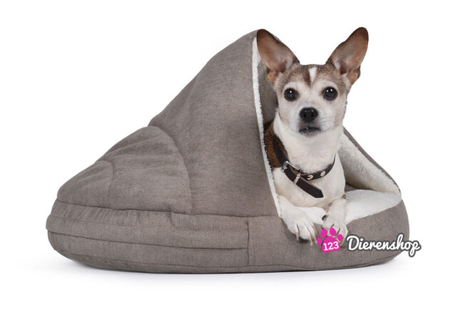 Hondenmand Snuggle Cave Taupe Deluxe 95 cm-0