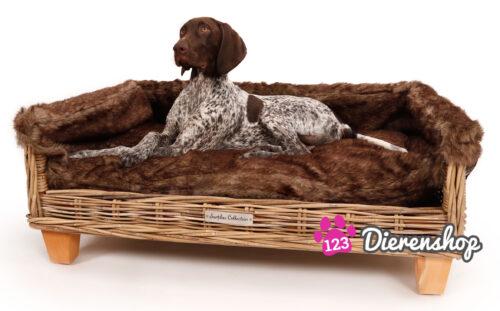 Hondenmand Rotan Fur Deluxe 110 cm-0