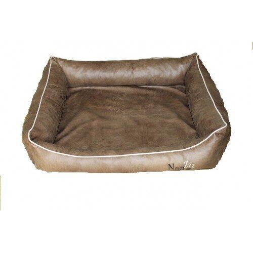 Hondenmand Napzzz Leatherlook Divan Bruin 100 cm-0