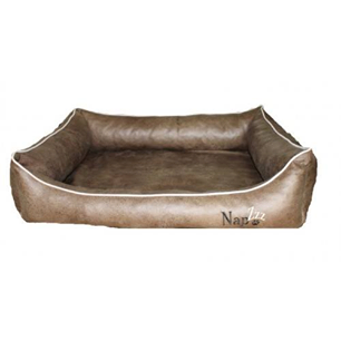 Hondenmand Napzzz Leatherlook Divan Bruin 90 cm-0