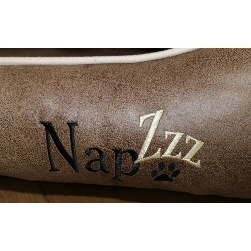 Hondenmand Napzzz Leatherlook Divan Bruin-16519
