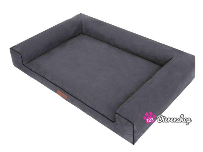 Hondenmand Lounge bed Suedine Grijs 100 cm-16674