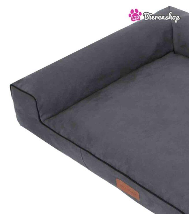 Hondenmand Lounge bed Suedine Grijs 100 cm-18818