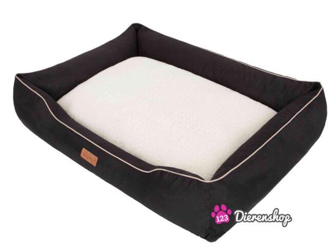 Hondenmand Indira Suedine Deluxe Zwart-16686