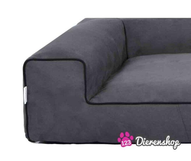 Hondenmand Lounge bed Suedine Grijs 100 cm-18817