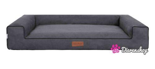 Hondenmand Lounge bed Suedine Grijs 100 cm-0