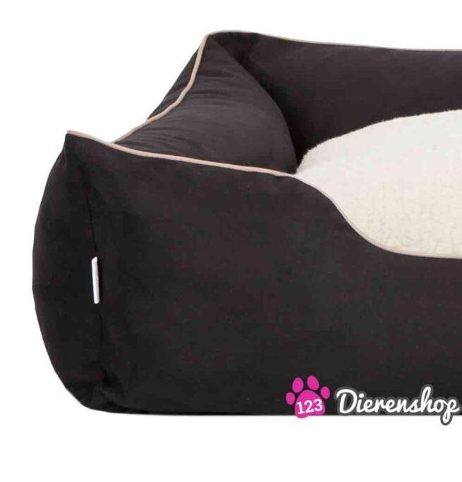 Hondenmand Indira Suedine Deluxe Zwart-18810