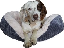 Hondenmand Rosewood Ovaal Jumbo Cord Pluche Grijs 81 cm-0
