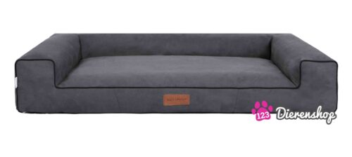 Hondenmand Lounge Bed Suedine Grijs 80 cm-0