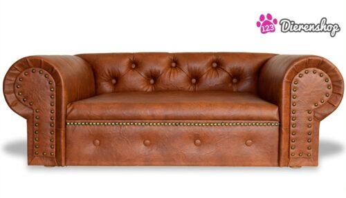 Hondenbank Chesterfield Cognac-0