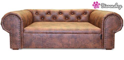 Hondenbank Chesterfield Cognac XL-0