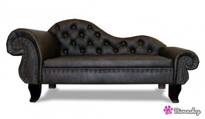 Hondenbank Recamiere Chaise Lounge Antiek Bruin XXL-0