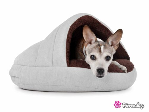 Hondenmand Snuggle Cave Crème Bruin-0