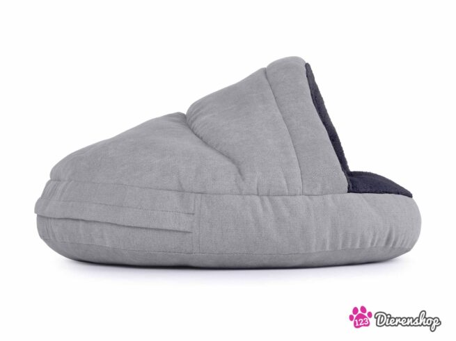 Hondenmand Snuggle Cave Zilver Antraciet-17120