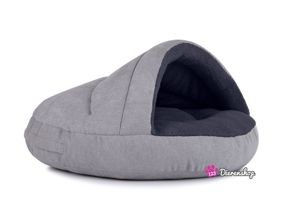 Hondenmand Snuggle Cave Zilver Antraciet-0