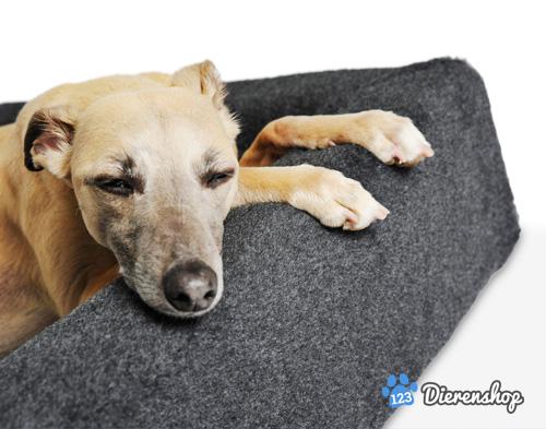 hondenmand bia bed fleece hoes grijs