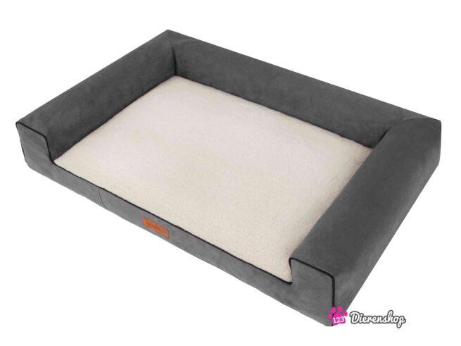 Hondenmand Lounge bed Suedine Deluxe Grijs 100 cm-17532