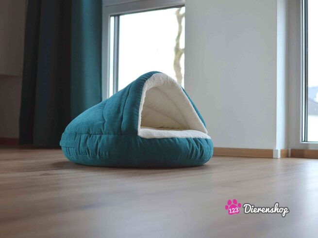 Hondenmand Snuggle Cave Deluxe Turquoise-18042