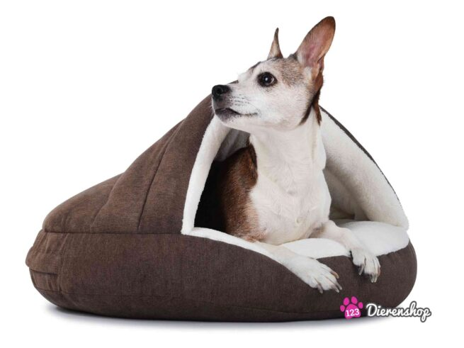 Hondenmand Snuggle Cave Deluxe Bruin-0
