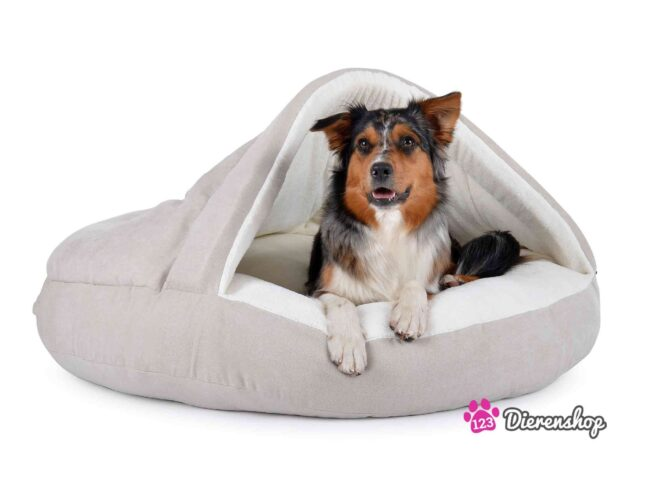 Hondenmand Snuggle Cave Deluxe Crème-0